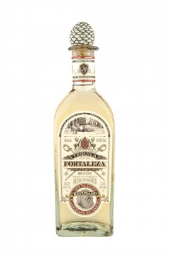 Fortaleza Reposado tequila bottle.
