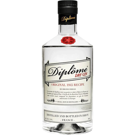 Diplôme dry gin français Diplome